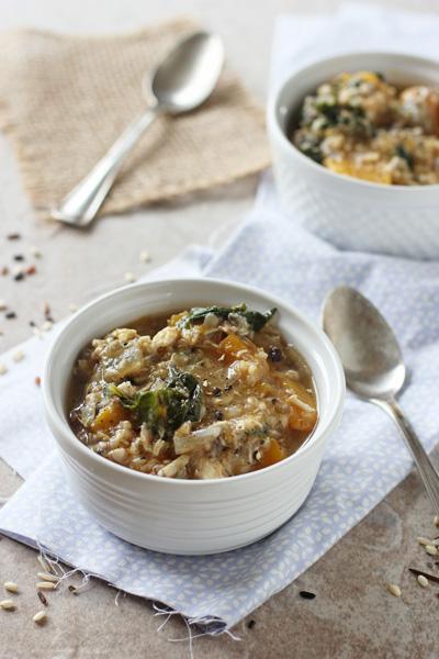 Crockpot Chicken, Wild Rice and Butternut Squash SoupCook