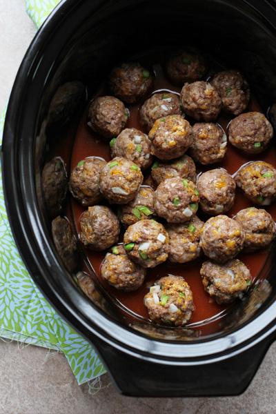 Crockpot Tex-Mex Meatballs | cookiemonstercooking.com