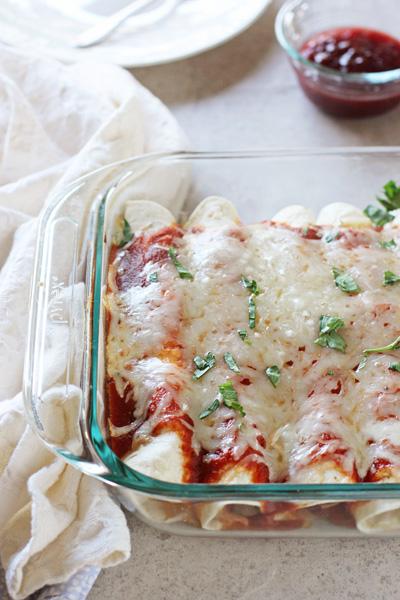 Leftover Turkey and Cranberry Enchiladas   cookiemonstercooking.com