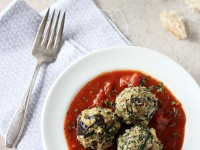 Eggplant Spinach Meatballs | cookiemonstercooking.com