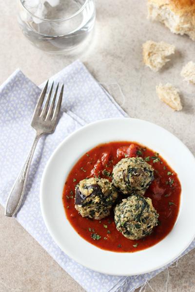 Eggplant Spinach Meatballs | cookiemonstercooking.com