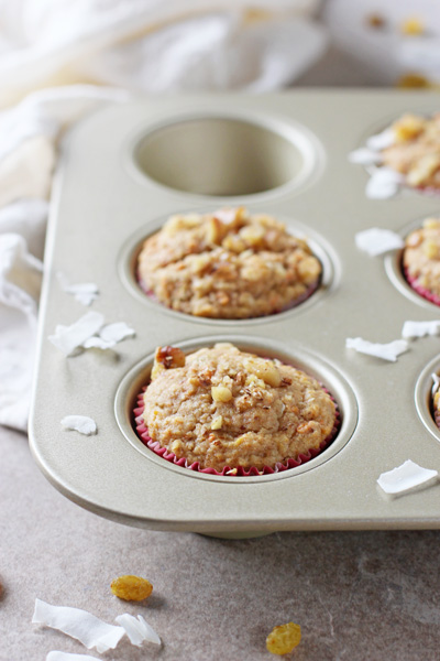 Whole Grain Morning Glory Muffins   cookiemonstercooking.com