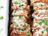 Baked Eggplant Rollatini with Sweet Potato | cookiemonstercooking.com