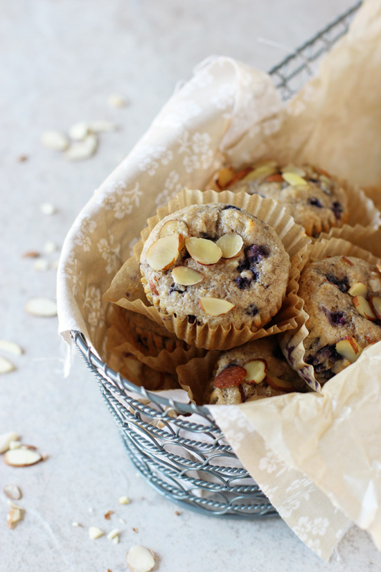 Blueberry-Almond Muffins Recipe — Dishmaps