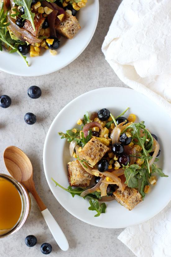 Blueberry Corn Panzanella with Maple Chipotle Dressing - Cook Nourish ...