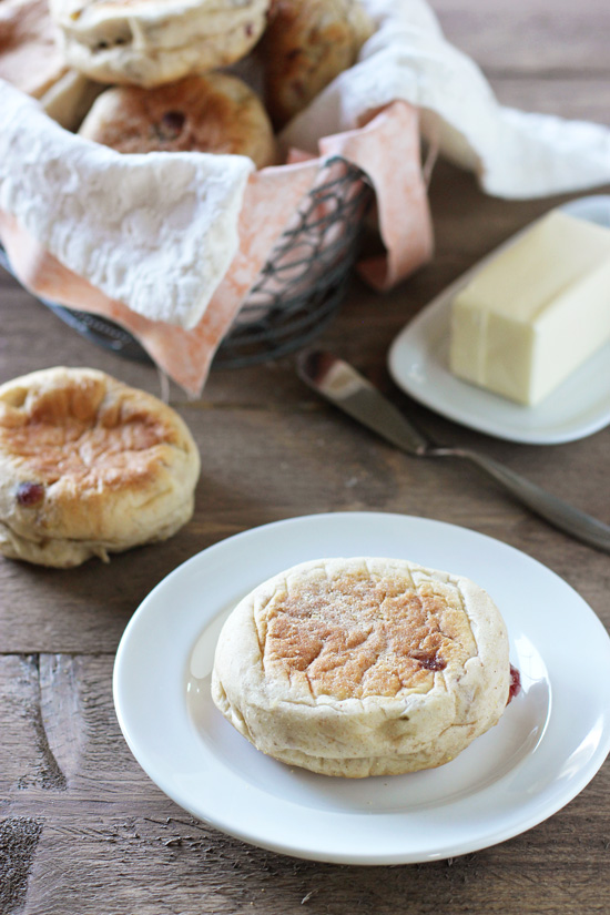 Homemade Cranberry Walnut English Muffins - Cook Nourish Bliss