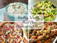 A healthy weekly meal plan with printable grocery list – the Thanksgiving edition! With four healthy and delicious side dishes for the big feast!