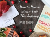 A series on how to host a stress-free thanksgiving dinner. Part three covers strategies for two weeks from the big day! Like making a general cooking timeline!