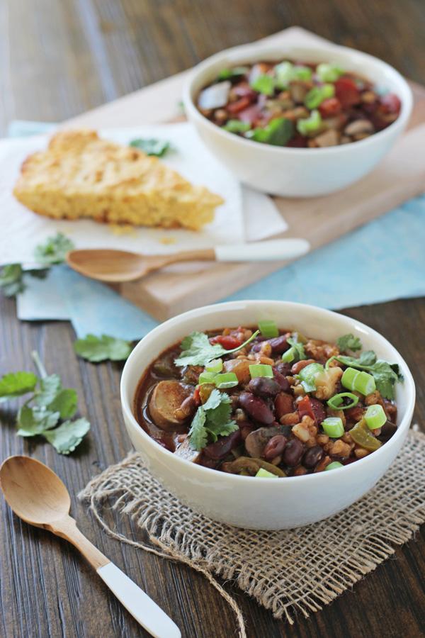 Crockpot Vegetarian Chili with Farro