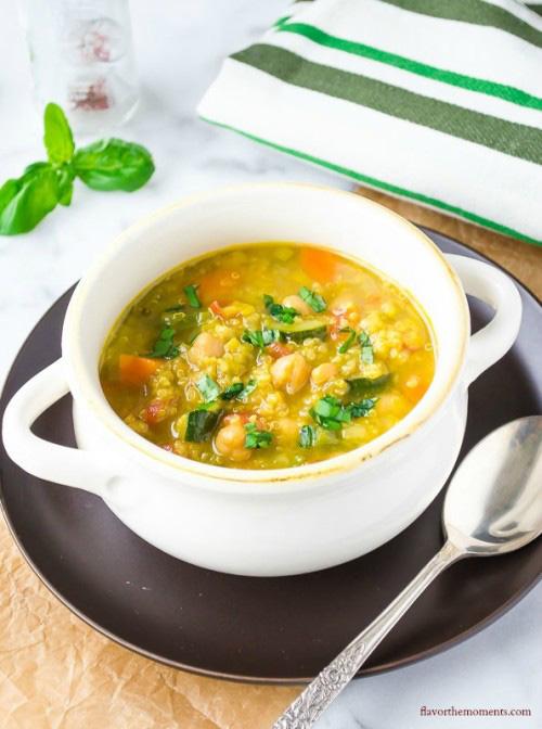 Saffron Vegetable Soup with Quinoa