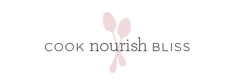 Our new logo for Cook Nourish Bliss.