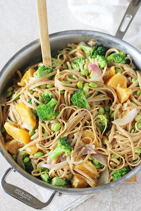 Orange Broccoli Noodle Bowls
