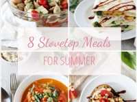 Easy and delicious stovetop meals for summer! No heating up the house with your oven! From fresh corn fritters to an avocado BLT to summer pasta!