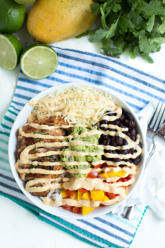 Chipotle Lime Chicken Taco Bowl