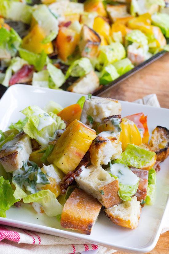 Grilled BLT Panzanella Salad