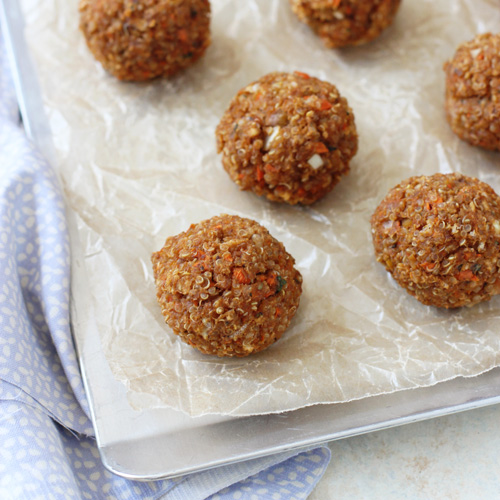 Make & Freeze Quinoa Chickpea Meatballs