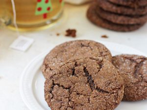 Perfectly soft & chewy whole wheat gingerbread cookies! Made with healthier swaps but still out of this world good! A holiday staple!