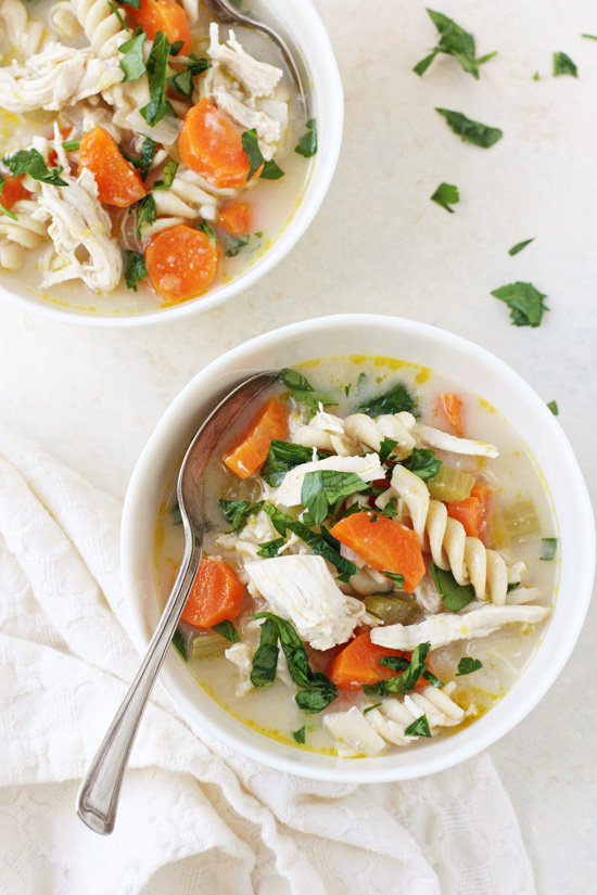 A soothing and flavorful miso chicken noodle soup! This wholesome recipe is perfect for fighting a cold or just to beat the winter blues!