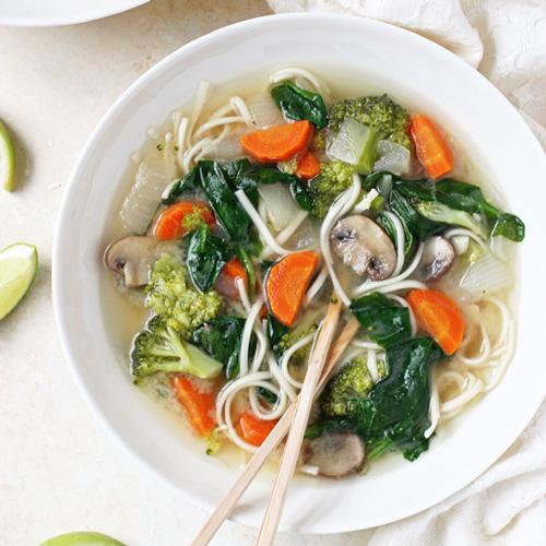 Miso Veggie Noodle Soup
