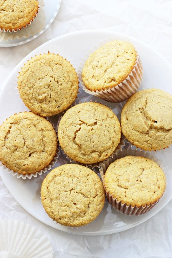 These super simple honey corn bread muffins are light, fluffy and moist! And so much better than the kind from a box! Dairy and gluten free!
