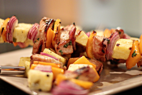 Grilled Pork Kebabs with Asian Marinade