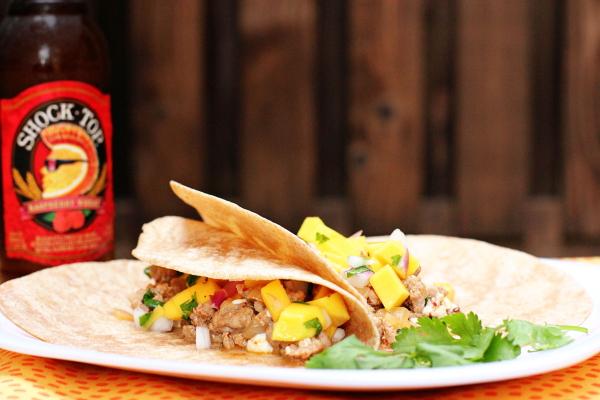 Pork Tacos with Mango Salsa
