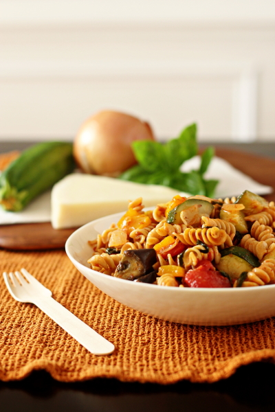 Pasta with Ratatouille-Style Vegetables