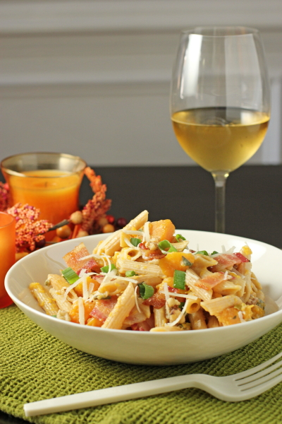 Penne with Butternut Squash, Bacon and Sage
