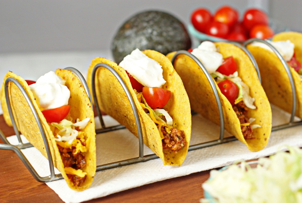 Healthy turkey tacos