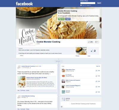 facebook cookie monster cooking