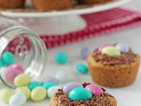 "Chocolate chip ""bird's nest"" cookie cups"