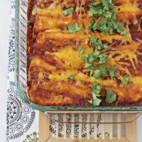 Chicken, Black Bean and Vegetable Enchiladas