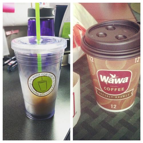 Iced coffee and wawa