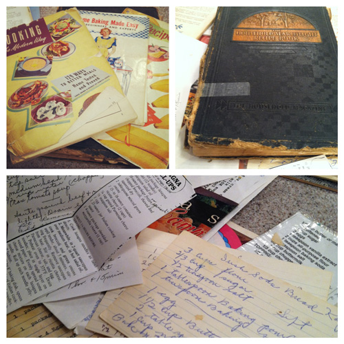Grandma's recipe books