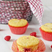 Raspberry Cornbread Muffins