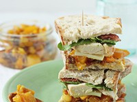 Chicken, Bacon and Mango Chutney Sandwich | Cookie Monster Cooking