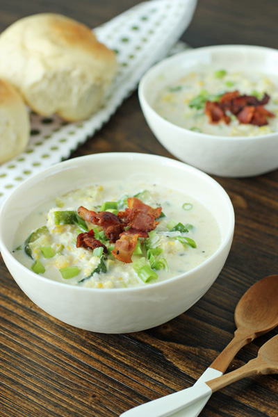 Corn Chowder with Squash and Zucchini   Cookie Monster Cooking