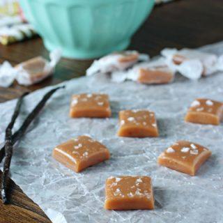 Vanilla Bean Sea Salt Caramels with Bourbon | Cookie Monster Cooking
