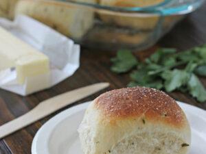 Fresh Herb Dinner Rolls | Cookie Monster Cooking