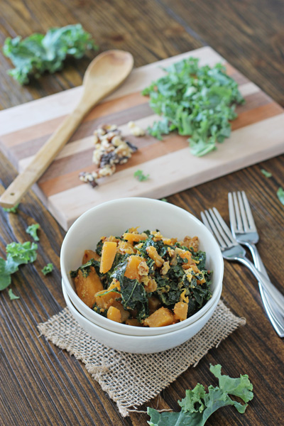 Mustardy Kale and Butternut Squash | Cookie Monster Cooking