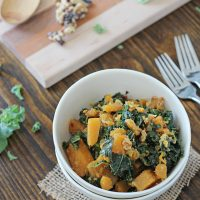 Mustardy Kale and Butternut Squash