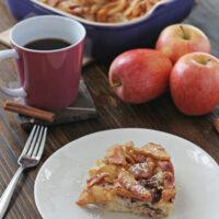 Overnight Baked Apple Cinnamon French Toast