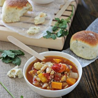 Roasted Vegetable Soup with Couscous