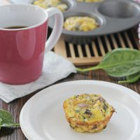 Spinach and Sun-Dried Tomato Frittata Muffins