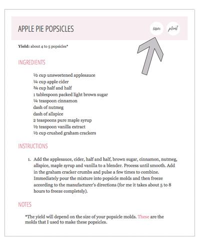 Ziplist Save Recipe Feature