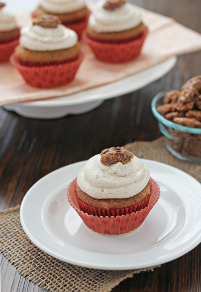Brown Butter Pumpkin Cupcakes   Cookie Monster Cooking