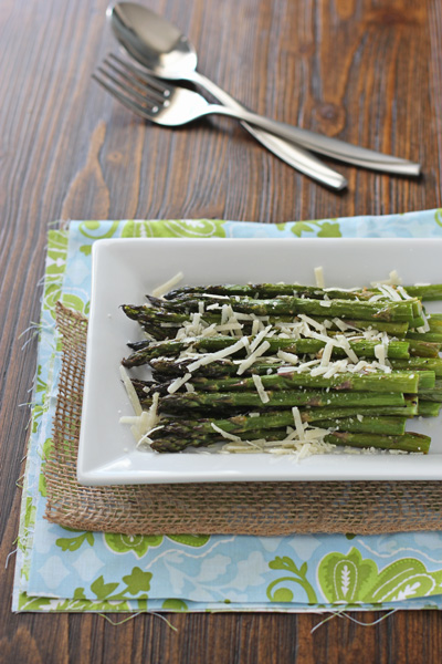 Easy Roasted Asparagus with Parmesan | Cookie Monster Cooking