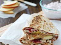Turkey, Cranberry and Apple Quesadillas | Cookie Monster Cooking
