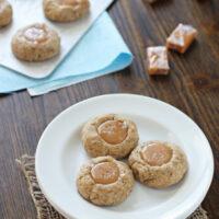 Caramel Latte Thumbprint Cookies