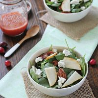 Spinach Salad with Fresh Cranberry Vinaigrette